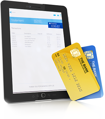 Promo - Tablet with credit cards